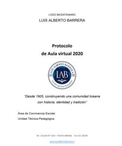 protocolo de aula virtual